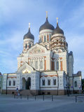 The Russian Orthodox Alexander Nevsky Cathedral in Toompea, Tall Stock Photo