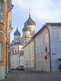 The Russian Orthodox Alexander Nevsky Cathedral in Toompea, Tall Royalty Free Stock Photography