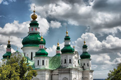 Russian orthodox cathedral stock images