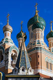 Russian Orthodox Cathedral. Commemorating the Grand Duke Nicolas Alexandrovitch, Nice, France Royalty Free Stock Photography