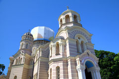 Russian Orthodox Cathedral church Royalty Free Stock Image