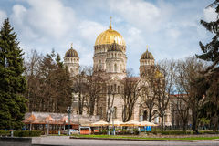 Russian orthodox cathedral of the Nativity of Christ in Riga, La Royalty Free Stock Photography