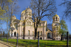 Russian orthodox cathedral of the Nativity of Christ in Riga, La Stock Photos