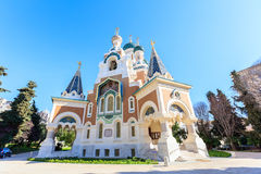 Russian Orthodox Cathedral in Nice. France Stock Photography
