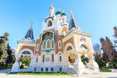 Russian Orthodox Cathedral in Nice. France Royalty Free Stock Photography