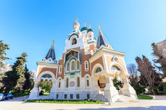 Russian Orthodox Cathedral in Nice. France Stock Image