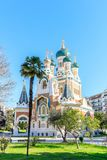 Russian Orthodox Cathedral in Nice. France Stock Images