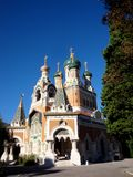 Orthodox church in Nice, France. Russian Orthodox Cathedral in Nice, France Stock Photos