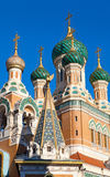 Russian Orthodox cathedral in Nice, France. St Nicholas Russian Orthodox Cathedral in Nice,  France Stock Images