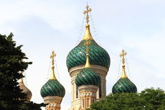 Russian Orthodox Cathedral, Nice, France Royalty Free Stock Photos