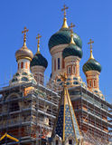Russian Orthodox Cathedral in Nice Stock Photos