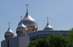 Russian orthodox cathedral in Paris stock images