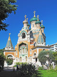 The Russian Orthodox Cathedral of Saint-Nicolas in Nice. Royalty Free Stock Images