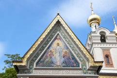 The Russian orthodox cathedral in Vienna Stock Photography