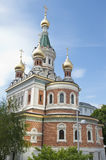 Russian orthodox cathedral in Vienna Stock Photo