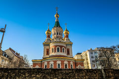 Russian Orthodox Cathedral in Vienna Stock Images