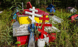 Russian-orthodox cemetery in Eklutna Royalty Free Stock Image