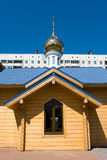 Russian orthodox chapel. Russian orthodox Pentecost chapel in Saint-Petersburg Stock Images