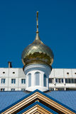 Russian orthodox chapel cupola. Cupola of Russian orthodox Pentecost chapel in Saint-Petersburg, Russia Royalty Free Stock Photography