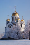 Russian orthodox christian cathedral Stock Photography