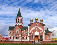 Russian orthodox church. In town Megion, near Nizhnevartovsk, Tyumen area, Siberia, Russia Stock Photos
