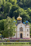 Russian Orthodox Church in Bad Ems on river Lahn in Germany Royalty Free Stock Image