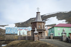 Russian orthodox church in Barentsburg, Svalbard Royalty Free Stock Photos