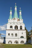 Russian Orthodox church with belltowers. Orthodox Church (XVII century) in Alexander Svirsky monastery in North-West region of Russia stock photography