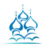 Russian orthodox church. Christianity symbol Stock Photos