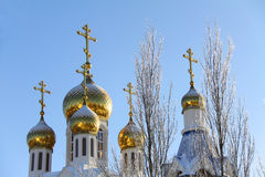 Russian orthodox church cupola Stock Image