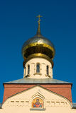 Russian orthodox church cupola. Cupola of Russian orthodox Pokrov church in Saint-Petersburg, Russia Royalty Free Stock Images