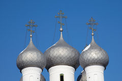 Russian orthodox church cupolas, Vologda Royalty Free Stock Photos