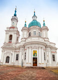 Russian Orthodox church facade. Yamburg's St.Catherine Cathedral Royalty Free Stock Images