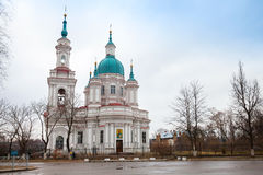 Russian Orthodox church facade. Yamburg's St.Catherine Cathedral Stock Photography