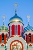 Russian Orthodox Church in honor of Saint George in the Kaluga region (Russia). In the Kaluga region there are many Orthodox churches, monasteries and Royalty Free Stock Image