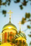 Russian Orthodox Church in honor of Saint George in the Kaluga region (Russia). Stock Image