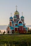 Russian Orthodox Church in honor of Saint George in the Kaluga region (Russia). Stock Photo