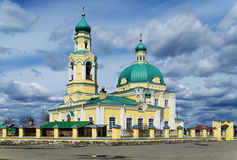 Russian orthodox church in honour of sacred Nikolay Chudotvortsa Royalty Free Stock Photography