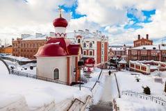 Russian orthodox church. Iversky monastery in Samara, Russia Stock Photography