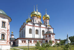 Russian orthodox church. Iversky monastery in Valdai Stock Photos