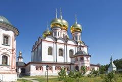 Russian orthodox church. Iversky monastery in Valdai Stock Photos