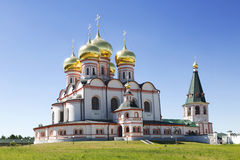 Russian orthodox church. Iversky monastery in Valdai Stock Photo