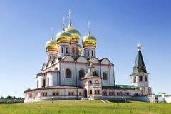 Russian orthodox church. Iversky monastery in Valdai Stock Photo