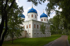 Russian Orthodox church of Juriev monastery Royalty Free Stock Photography