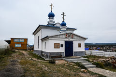 Russian Orthodox Church, Khuzir, Olkhon, Russia Stock Image