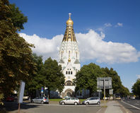 Russian orthodox church in Leipzig, Germany Stock Image