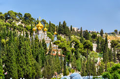 Russian Orthodox Church of Mary Magdalene in Jerusalem, Israel Stock Photos