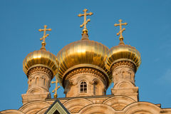 Russian Orthodox Church of Mary Magdalene, Jerusalem Stock Image