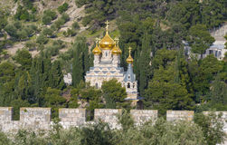 Russian Orthodox Church of Mary Magdalene Stock Images