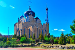 Russian orthodox church in Bialystok. Modern Russian orthodox church erected in Bialystok, eastern Poland Stock Photos